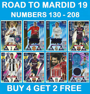 Match Attax CHAMPIONS LEAGUE EXTRA 2018/19 18/19 UPDATE ROAD TO MADRID 2019