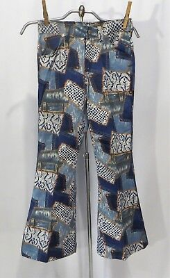 Vintage Wrangler Jeans Pants Bell Bottoms Patchwork Fabric NWT sz 10 Girls