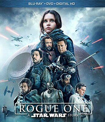 Rogue One: A Star Wars Story (Blu-ray/DVD/Digital, Canadian plays in US) NEW