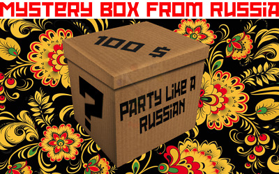 Mysteries box from Russia - 100$ Party like a Russian -Fun unboxing, Weird stuff