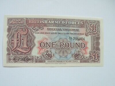 British Armed Forces £1 (One Pound) - 2Nd Series - Uncirculated - Uk Post Free