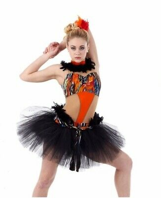 TORRID ZONE Jazz Dance Costume w// Arm Band Adult Small