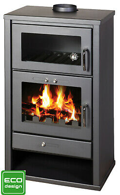 Wood Burning Stove WIth Oven Fireplace Cooker Solid Fuel Log Burner 20 kw