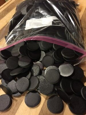"Leather Discs Black 1/8"" Thick , 1,000 Discs"