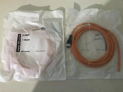 Ifm M12 3 Pin Cable 2m E10867 Brand New
