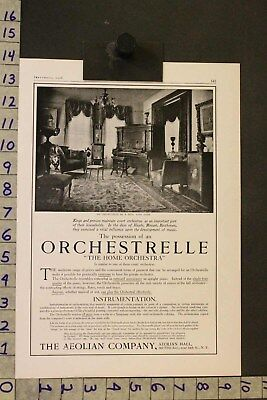 1906 Music Instrument Aeolian Orchestrelle Piano Home Parlor Decor Ad Si18