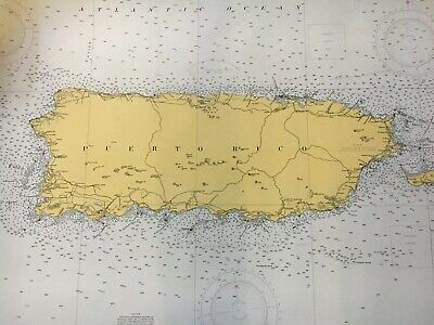 Nautical Chart Puerto Rico Date 1965 #920