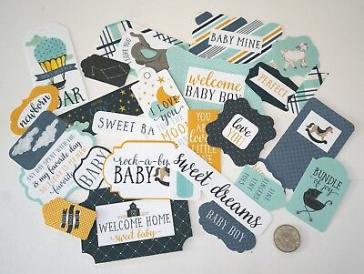 NO 576 Scrapbooking - 33 Baby Boy Die Cuts - Scrapbooking - Not Stickers - Craft