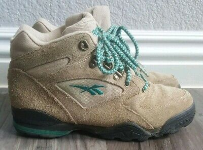 a05c08a49652 VINTAGE 90S REEBOK Boots Retro 1990s Mens 7.5 Suede Leather Hiking ...