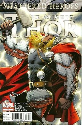 The Mighty Thor #11  Shattered Heroes  Marvel  April 2012  N/m 1St Print