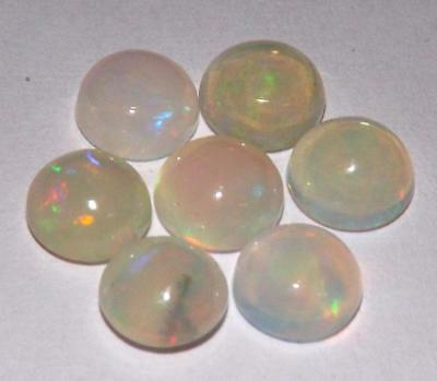 3.20 cts Ethiopian Fire Opal Natural 6 mm Round Gemstone Lot #opml06