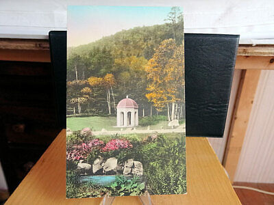 1930's Hand Colored Postcard Sur de Mont Spring Acadia National Park