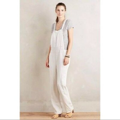 840956385287 Anthropologie Pilcro and The Letterpress Women s Off-White Overalls Size XS   158