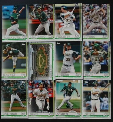 2019 Topps Series 1 Oakland Athletics A'S Team Set 12 Baseball Cards