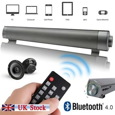 TV Sound Bar Home Theater Subwoofer Soundbar with Bluetooth Wireless / Wired New