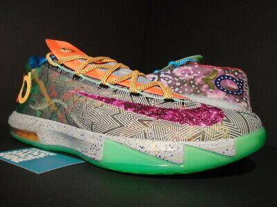0a65a4679acc Nike Kevin Durant Kd Vi 6 Premium What The Purple Orange Green 669809-500  New