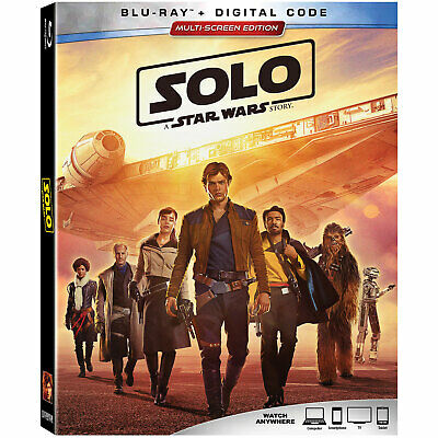 Solo: A Star Wars Story (2018 Blu-ray/Digital, Canadian plays in US) NEW/SEALED