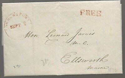 1832 Stampless Letter/Cover to Member of Congress Leonard Jarvis