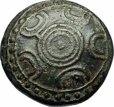 ALEXANDER III the GREAT Miletos Mylasa Ancient Greek Coin SHIELD HELMET i71683