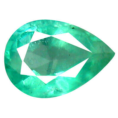 0.68 ct Charming Pear Cut (7 x 5 mm) Colombian Emerald Natural Gemstone