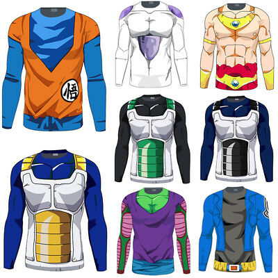 30cbc753 Mens Long Sleeve T Shirt Dragon Ball Z DBZ Compression Sports Muscle Casual  Tops