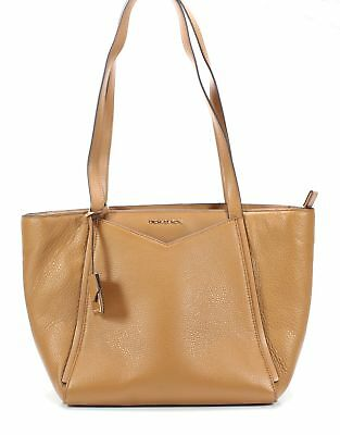 c1b2c9686835 Michael Kors NEW Acorn Gold Whitney Small Top-Zip Leather Tote Bag $228- #
