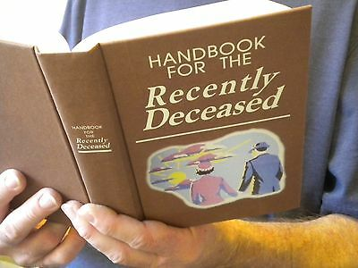 Beetlejuice Handbook Recently Deceased Book movie prop - Zombie Dead -Tim Burton