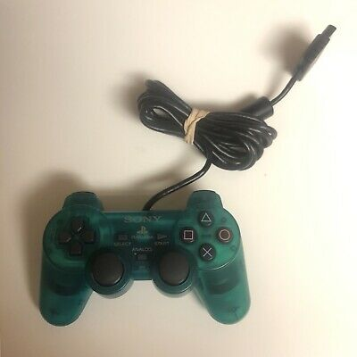 Sony PlayStation 2 Emerald Green Authentic DualShock 2 Controller PS2 SCPH-10010