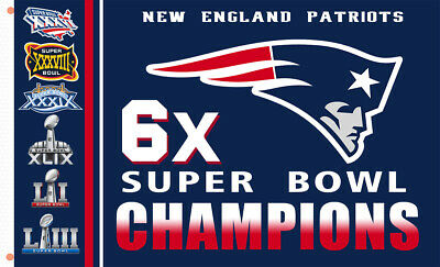 New England Patriots Champions 6x flag  90x150cm 3x5ft best Team banner
