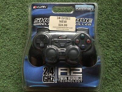 Kuma Shock Wave Wireless Controller 2.4 Ghz For Playstation 2 New