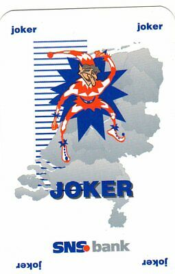 """RARE MINT """"SNS Bank (CHECK Colour of Wording)"""" JOKER Playing Card #181"""