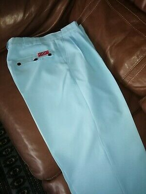 """Mens Northern Soul Pegs Oxford Bags Trousers Pale Blue 35"""" Waist 31""""long Vgc"""