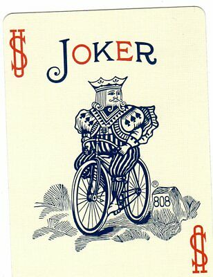 """RARE MINT """"Bicycle Rider Unusual Colours"""" JOKER Playing Card #195"""