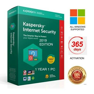 Kaspersky Internet Security 2019 1 PC 1 Year - Windows License Global Activation