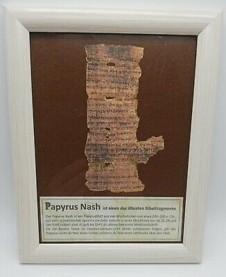 Papyrus Nash AT Papyrus Fragment Bible ancient replic