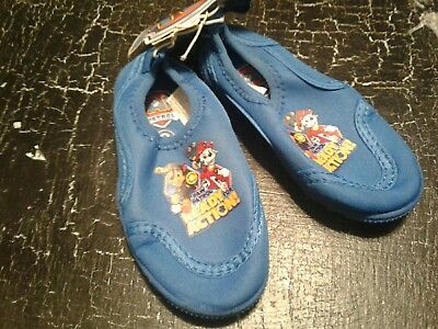 89a257b8c2d1 Swim Shoes PAW PATROL Toddler Boy s Size 5 6 Durable Slip On Water Shoes