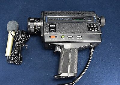 SANKYO SOUND XL-40S SUPER 8mm CAMERA AND MICROPHONE- EXCELLENT WORKING CONDITION