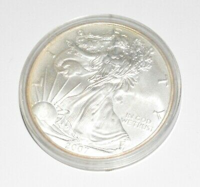 2007 ASE American Silver Eagle 1 Troy Ounce of Fine Silver! One-Dollar Coin!