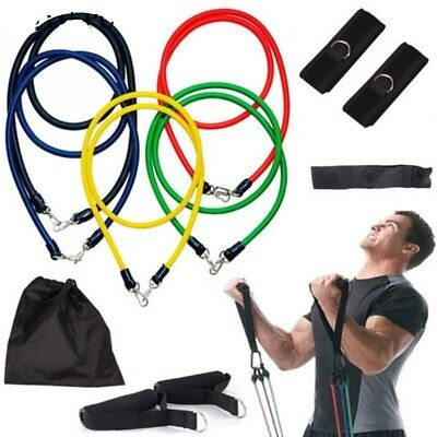 Latex Resistance Bands Exercise Fitness Yoga Pull Workout Elastic Up Theraband