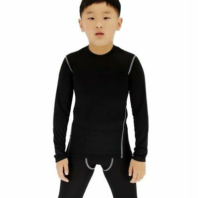 T Shirts Long Sleeves Sports Compression Base Layer Running Tops Boys Kids Girls