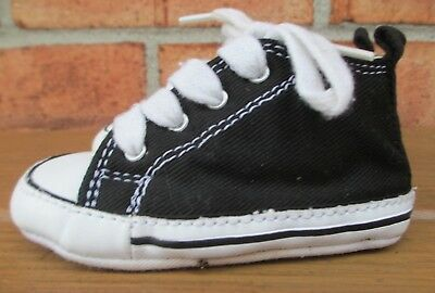 7c91b764c00a Toddler Size 4 Lace-Up Converse All Star Sneakers Crib Shoes - Black White