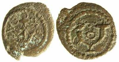 Herod I GREAT Anchor, Cornucopias, OUTWARD Legend Hendin 1188a, Biblical/Judean
