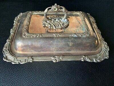 Vintage Rare Silver Plated Dish with Lid, late 19th century