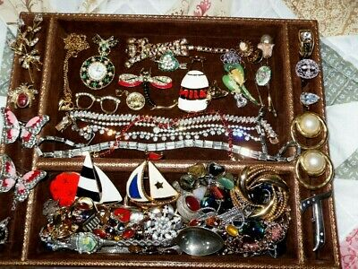 Huge Vintage/ Now Jewelry Lot Estate Find Drawer Lot UNSEARCHED UNTESTED $2 Bill