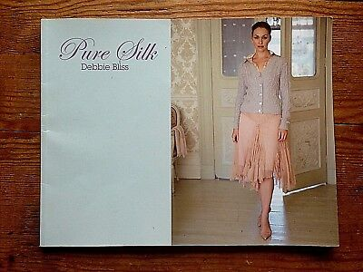 Debbie Bliss !! Pure Silk !! Beautiful Book Of 12 Gorgeous Patterns !! Vgc