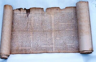 Jesaja Textrolle Replik Qumran   Bible ancient replica