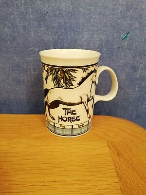 "DUNOON ""Fine Bone China Mug ""The Horse""Ming Shu,The Art of Chinese Astrology"