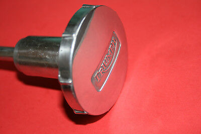 Triumph 350 500 650 Polished Alloy Steering Damper Knob And Rod 97-1142