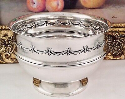 Superb WALKER AND HALL Early Victorian Repousse Silver Plated Footed Bowl C1860