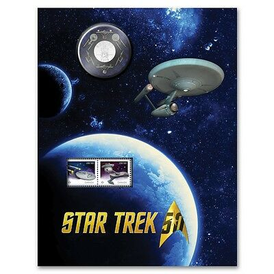 2016 Canada 50-cent Star Trek TM - Enterprise Coin and Stamp Set